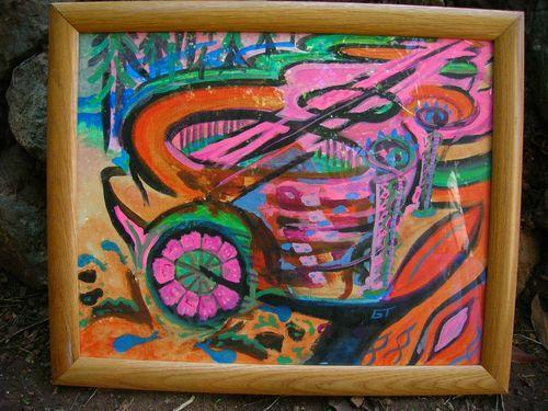 Steam Boat 16x20 acrylic on canvas board 2005