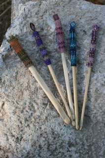 Peyote Stitch Embellished Crochet Hooks